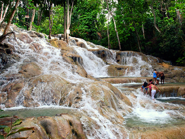 Worth the climb. Dunn's River Falls, Jamaica.