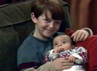 young Michael and baby Morgan...