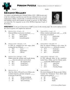 Person Puzzle -- Inverse Variation - Bill Nye Worksheet | Bill nye ...