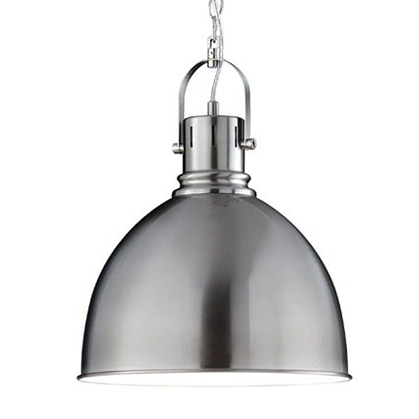 Industrial pendant lamp brushed nickel pinterest brushed industrial pendant lamp brushed nickel give your kitchen a stylish feature with the industrial pendant lamp from leyton this brushed nickel kitchen aloadofball Gallery
