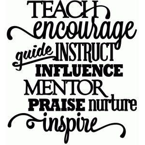 Silhouette Design Store: teach encourage mentor inspire