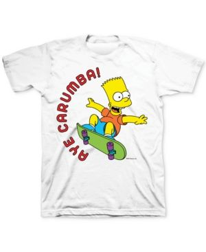 b49a9d39a Bart Simpson Aye Carumba! Men's Graphic T-Shirt - White S | Products ...