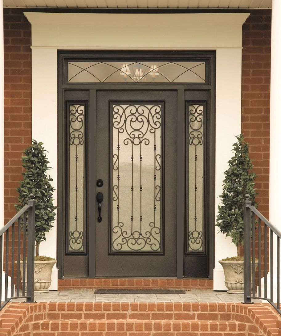 "Doors Design: ""Belle Meade"" Decorative Door Glass. Swirls Of Wrought"