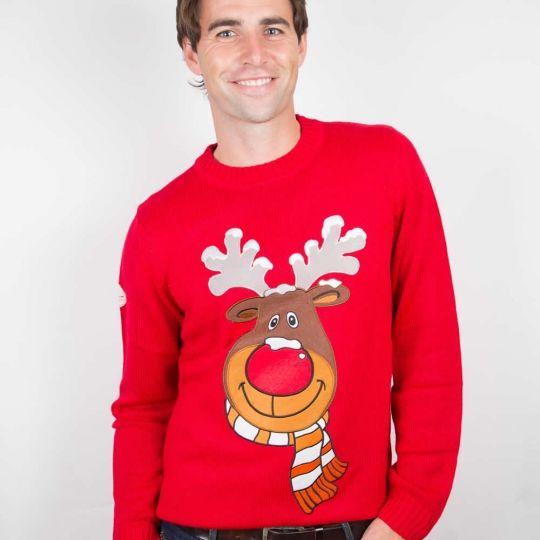 mens red christmas jumper