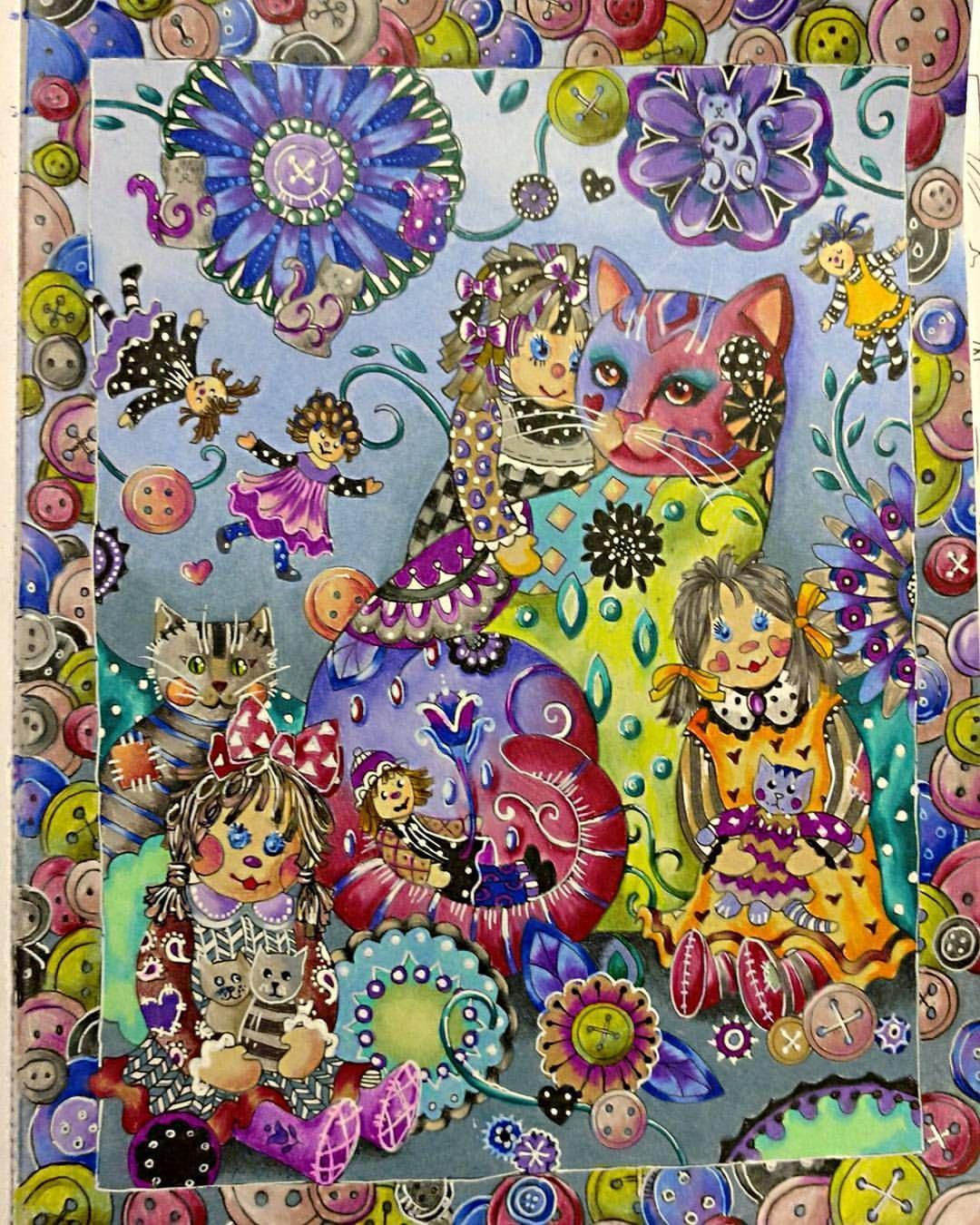 Varvaralevsa #coloringbook #coloring #marjoriesarnat #cats ...