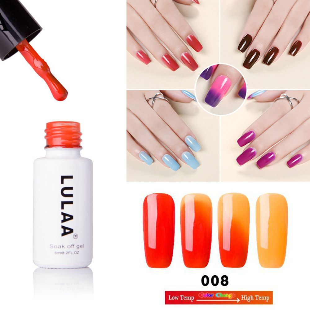 Promo LULAA DIY Thermal Temperature Change 18 Color Nail Gel Polish ...