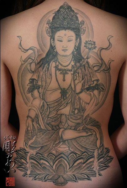Artist: Shodai Hori-ai   back piece   Buddha tattoos ...