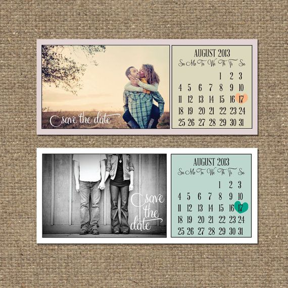 printable save the date calendar by tonideweese on Etsy | Wedding ...