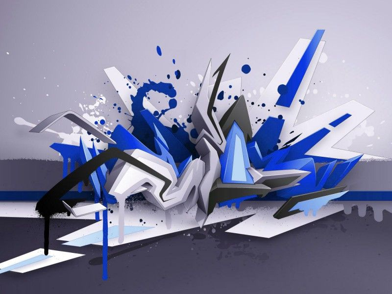 3d Graffiti Art 3d 3d Graffiti Wallpaper Foto Wallpaper 01 3d 3d