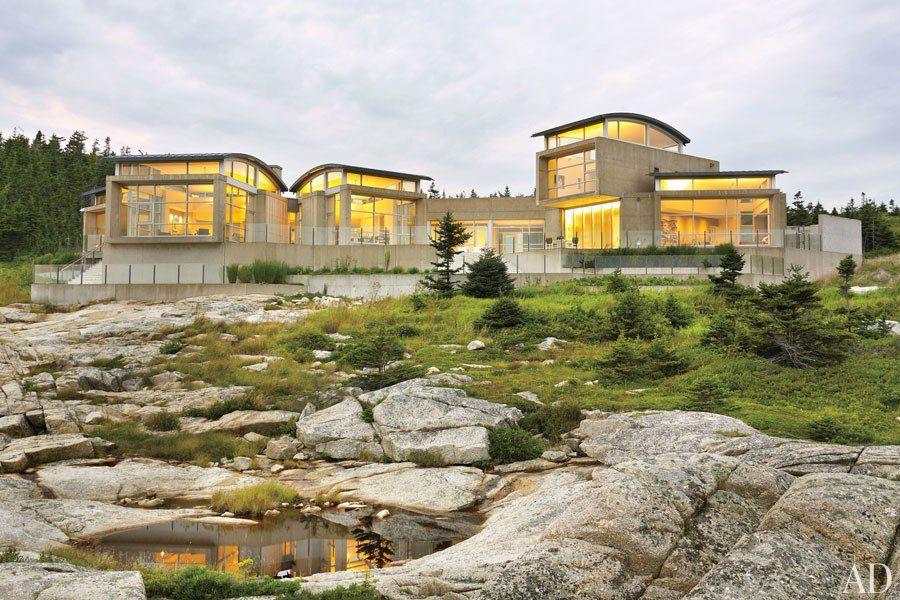 Alexander Gorlin Nova Scotia Canada Concrete House Nova Scotia Architecture Exterior