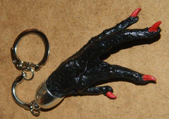 Black Chicken Foot Keychain Charm by ArteObscuraBotanica on Etsy ... d9470ecb3e86