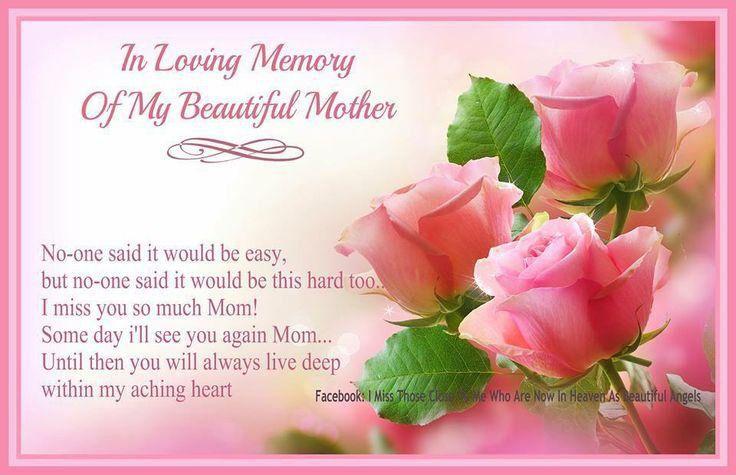 Imágenes De In Memory Of Mom Quotes