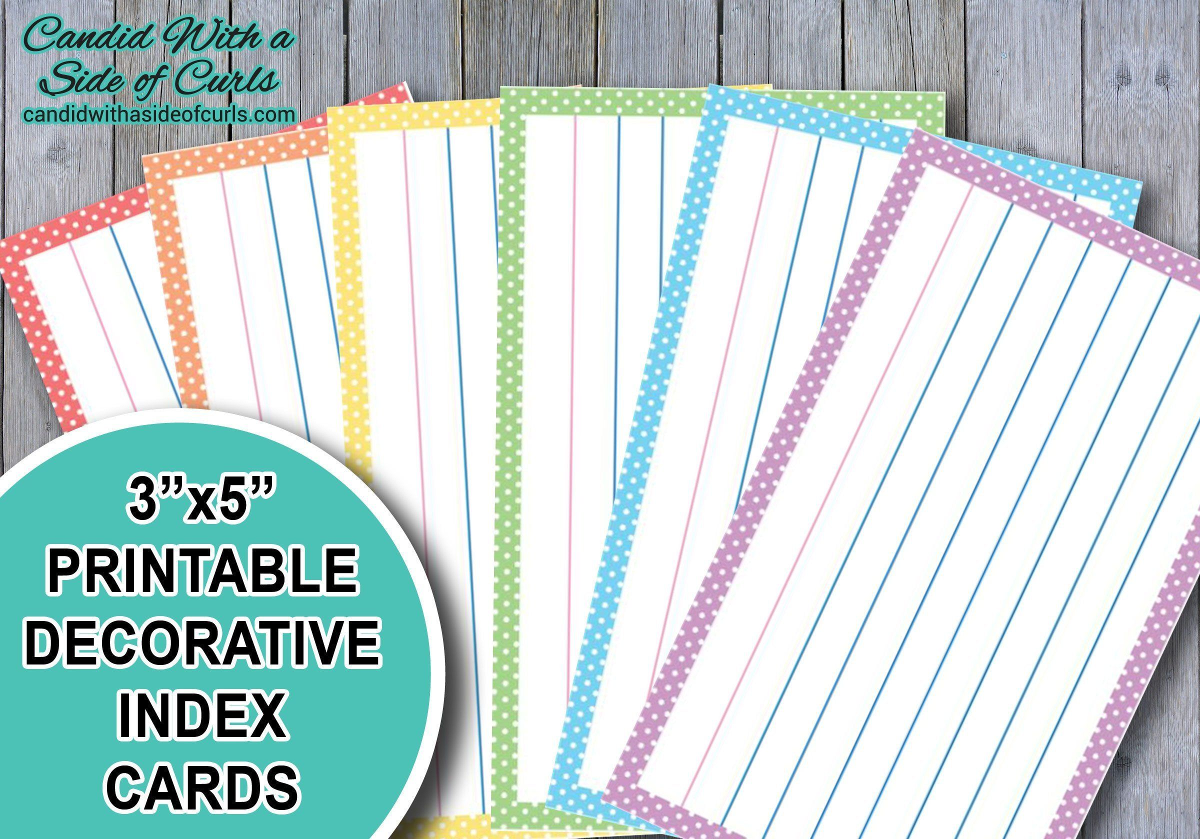 graphic about Printable Index Cards 3x5 known as 3x5 Printable Ornamental Pastel Index Playing cards Printable