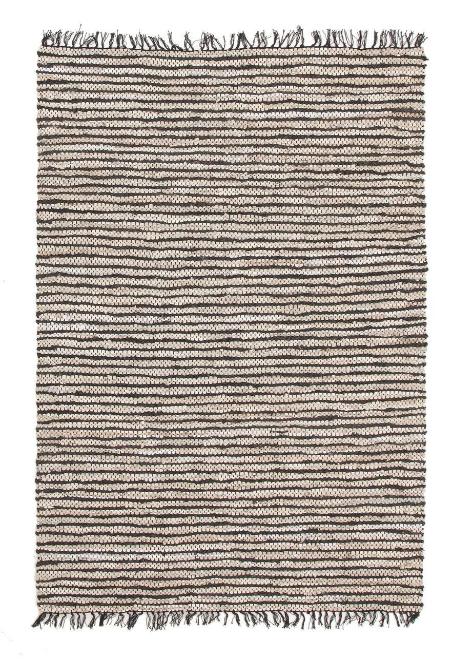Alpine Delta Black Jute And Leather Rugs Express Online Rug Australia