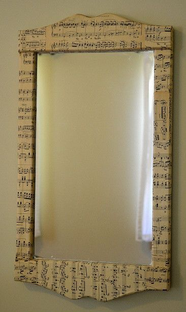 Sheet Music Mirror #musicdecor