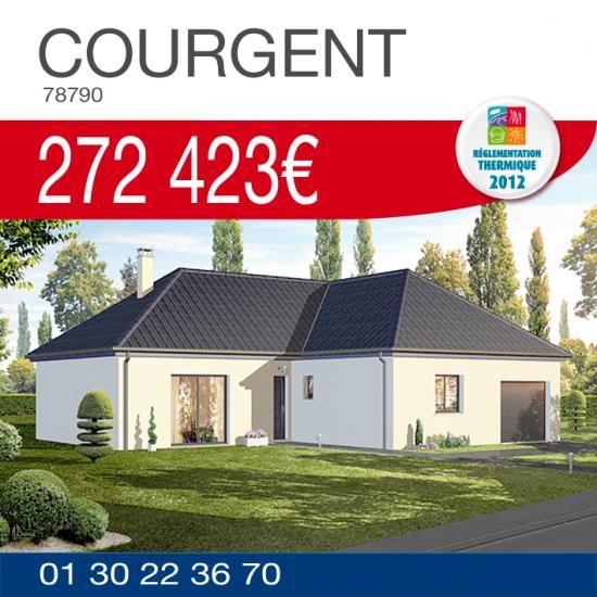 Découvrez notre offre maison terrain à Courgent (78790) http://www.habitatconcept-fr.com/offre-213-maison-terrain-courgent-78790 #HabitatConcept