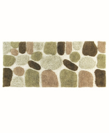 Plush Pebble Patterned Bath Runner Tan Beige In 2019