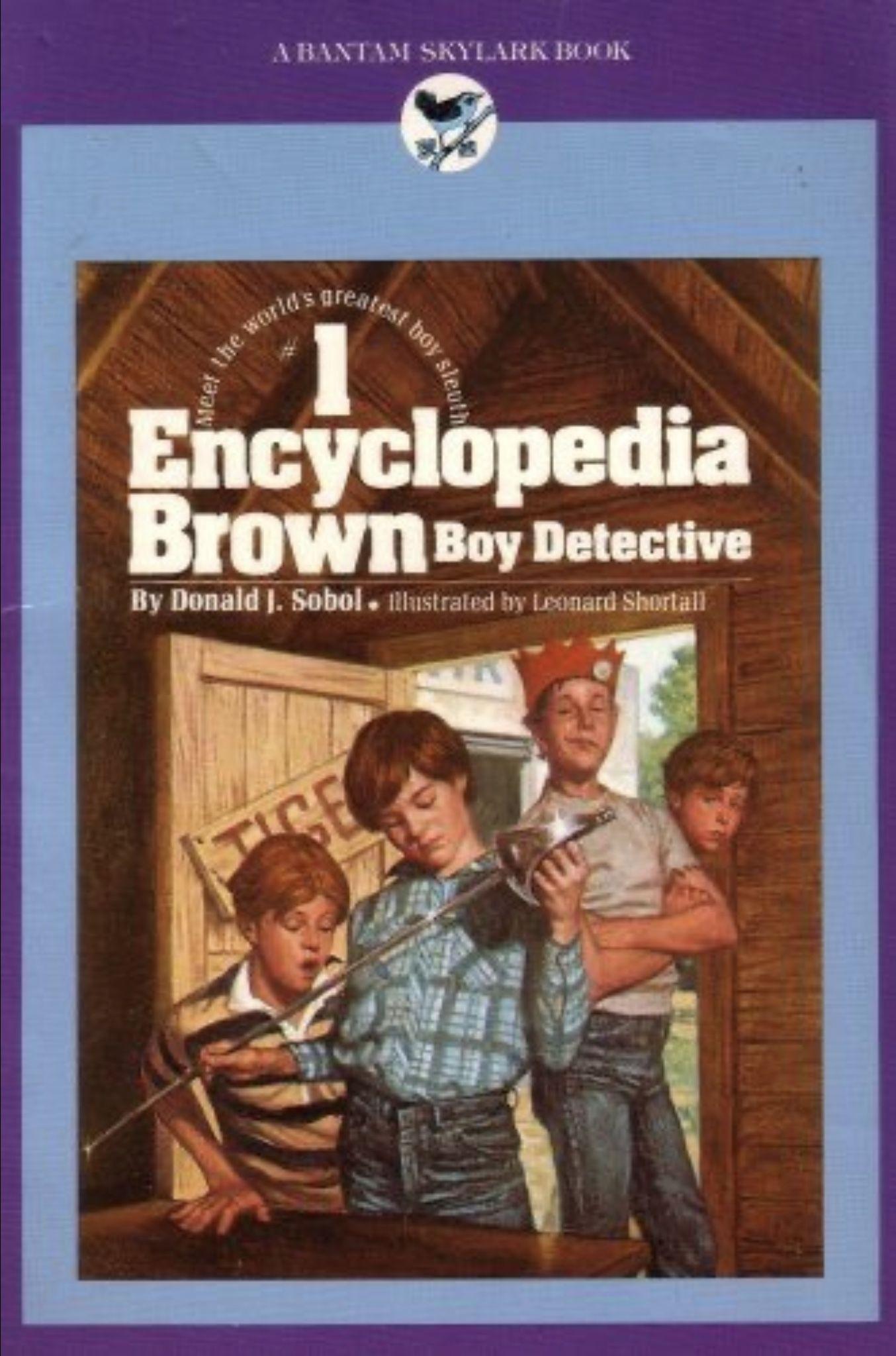Encyclopedia brown boy detective by donald j sobol 1985
