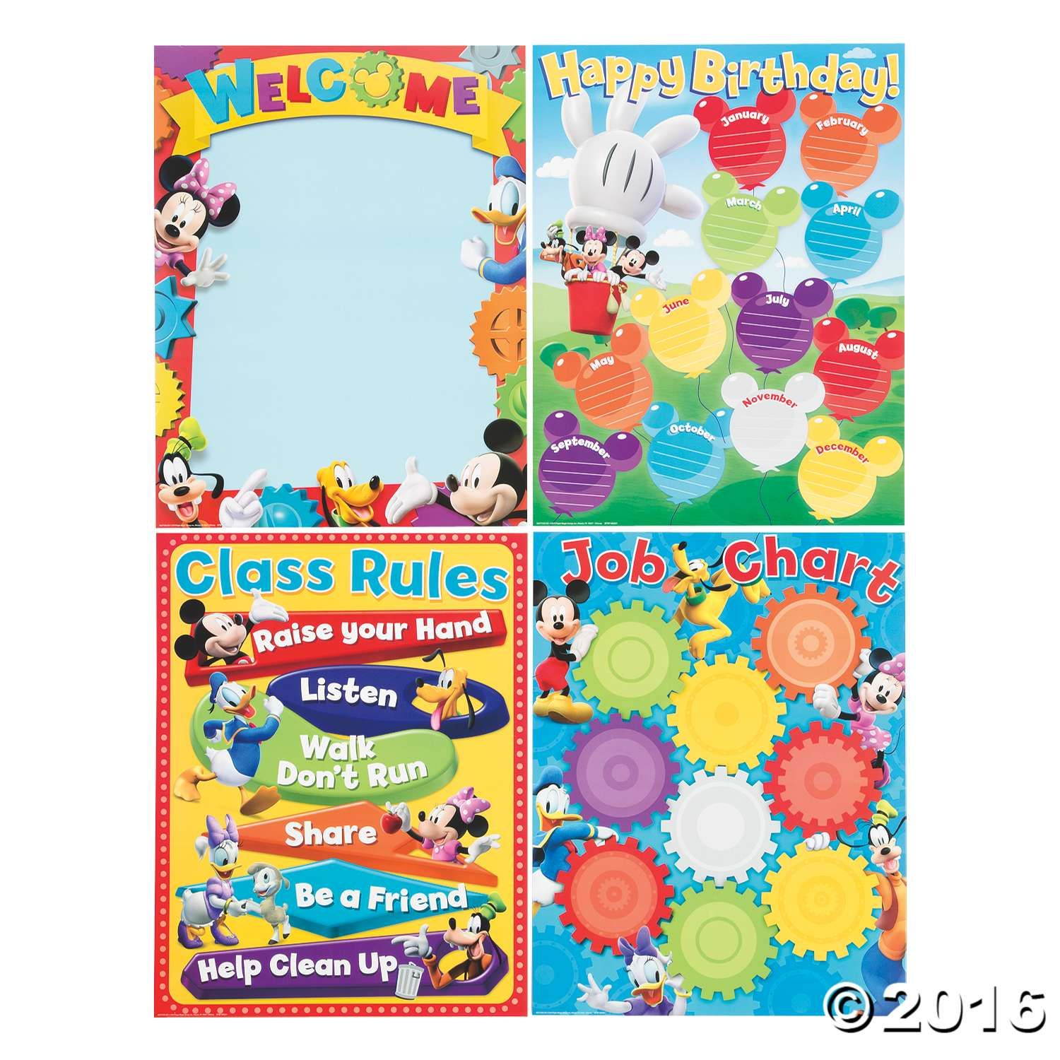 birthday charts for class 2: This poster set is a great classroom management tool includes 1