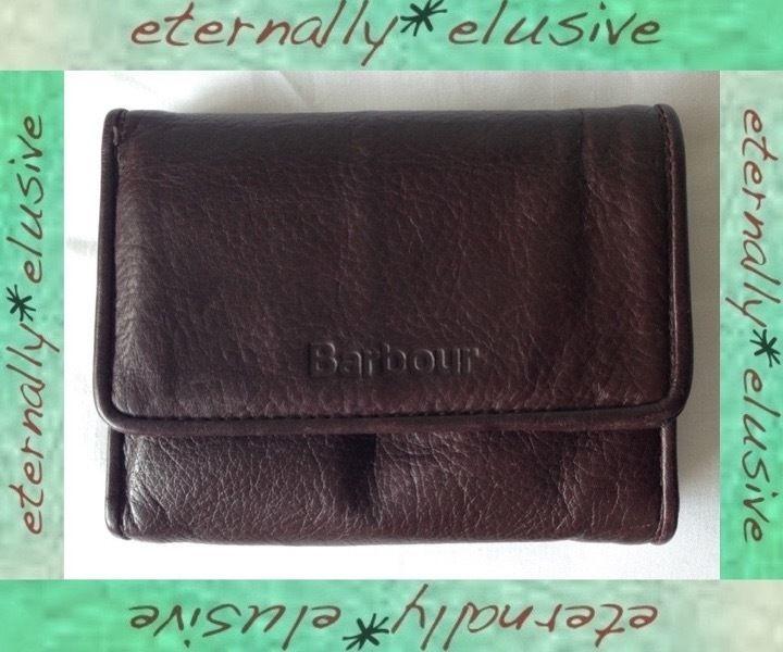 Barbour genuine soft grain leather wallet purse coins