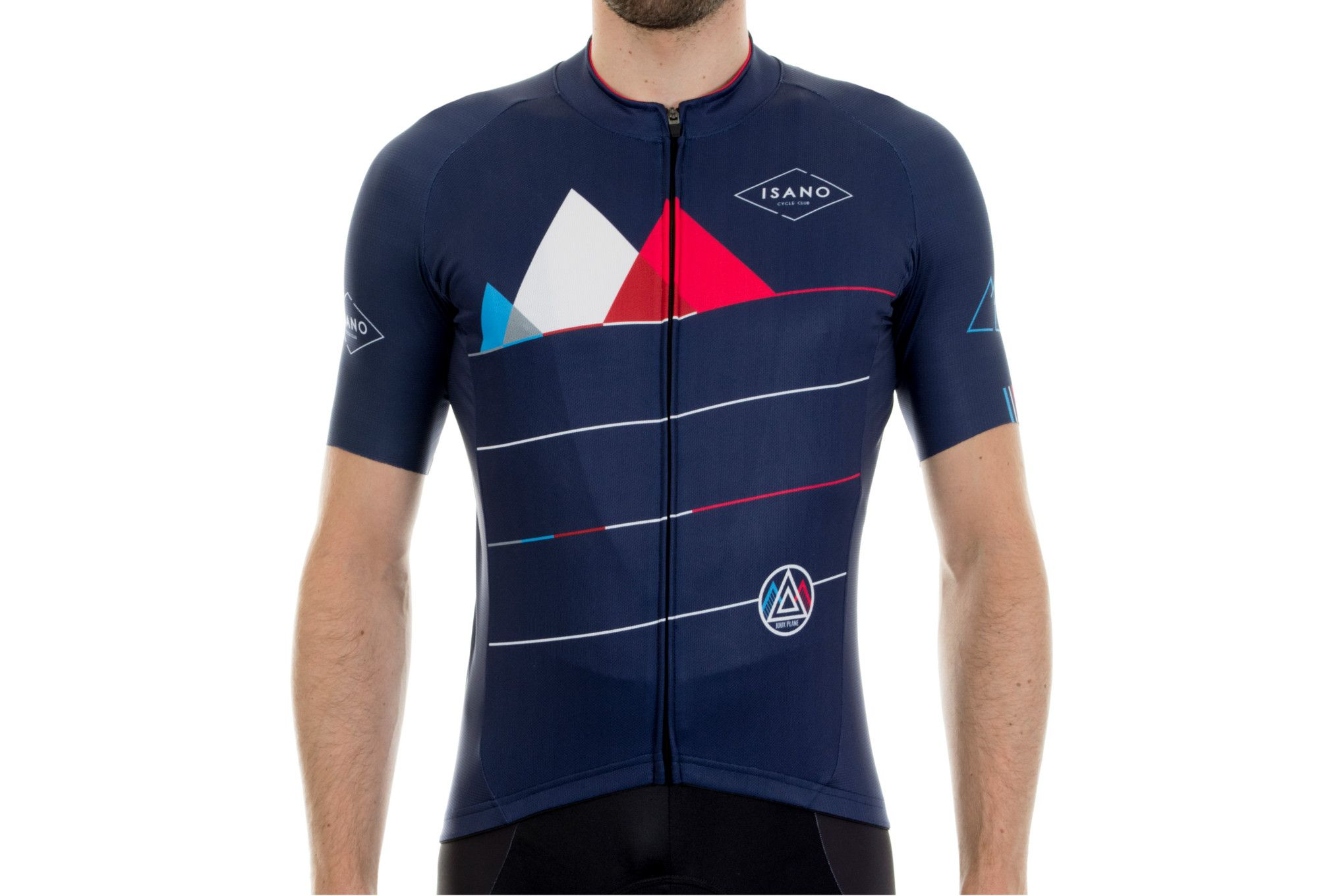Cycling Wear Maillot Manches Courtes Isano Joux Plane Bleu Cycling