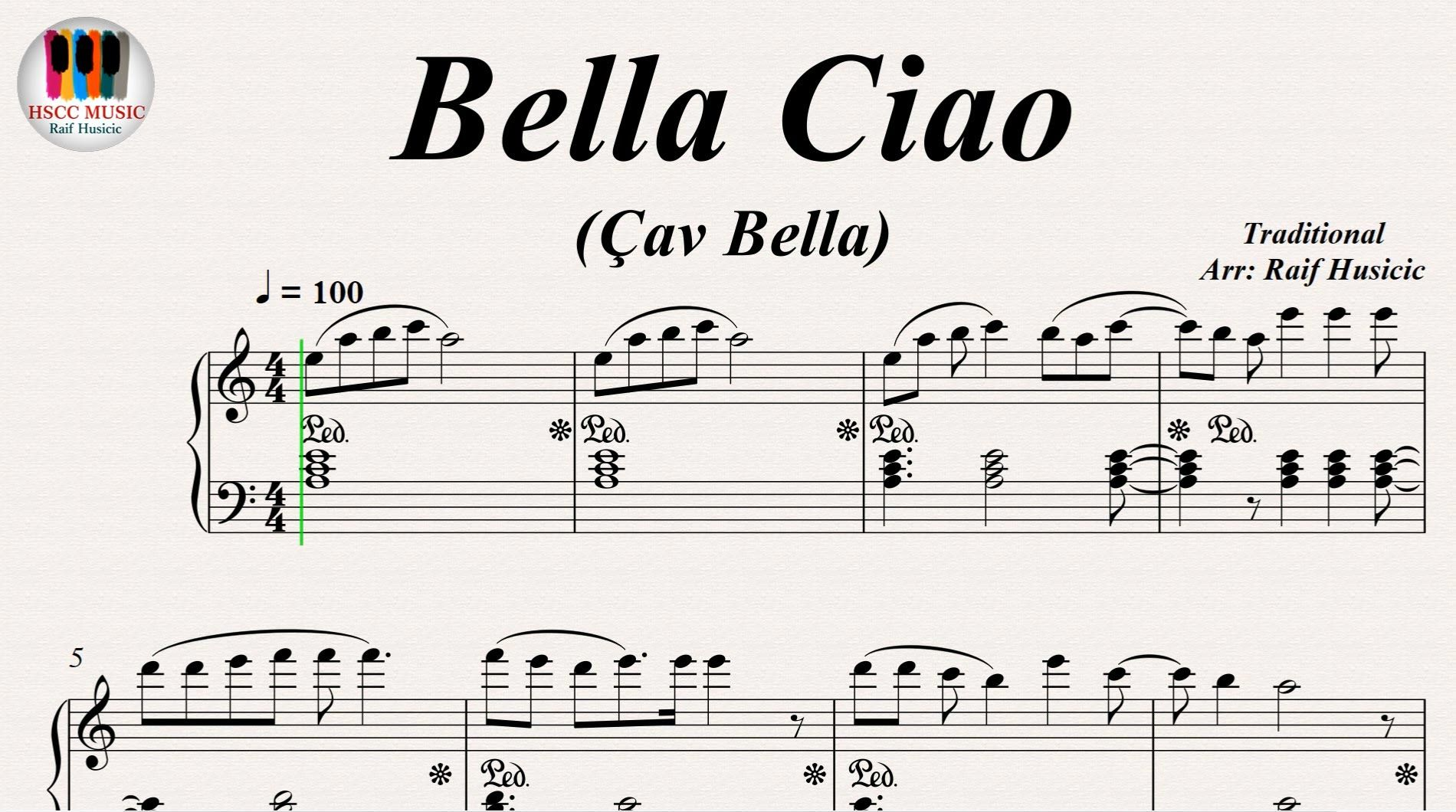 Bella Ciao Cav Bella Piano Https Youtu Be M7trymvzysq