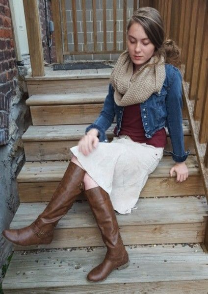 """Cool Adorable """"Hey Betty"""" Luxurious soft Fluted Corduroy Knee Skirt"""