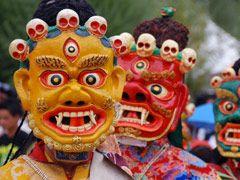 Maskers Boeddhistisch Festival