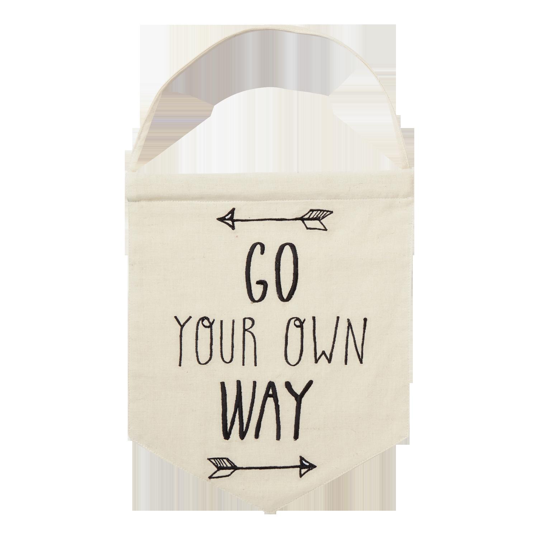 Go Your Own Way Fleetwood Mac Rumours Cream Fabric Slogan