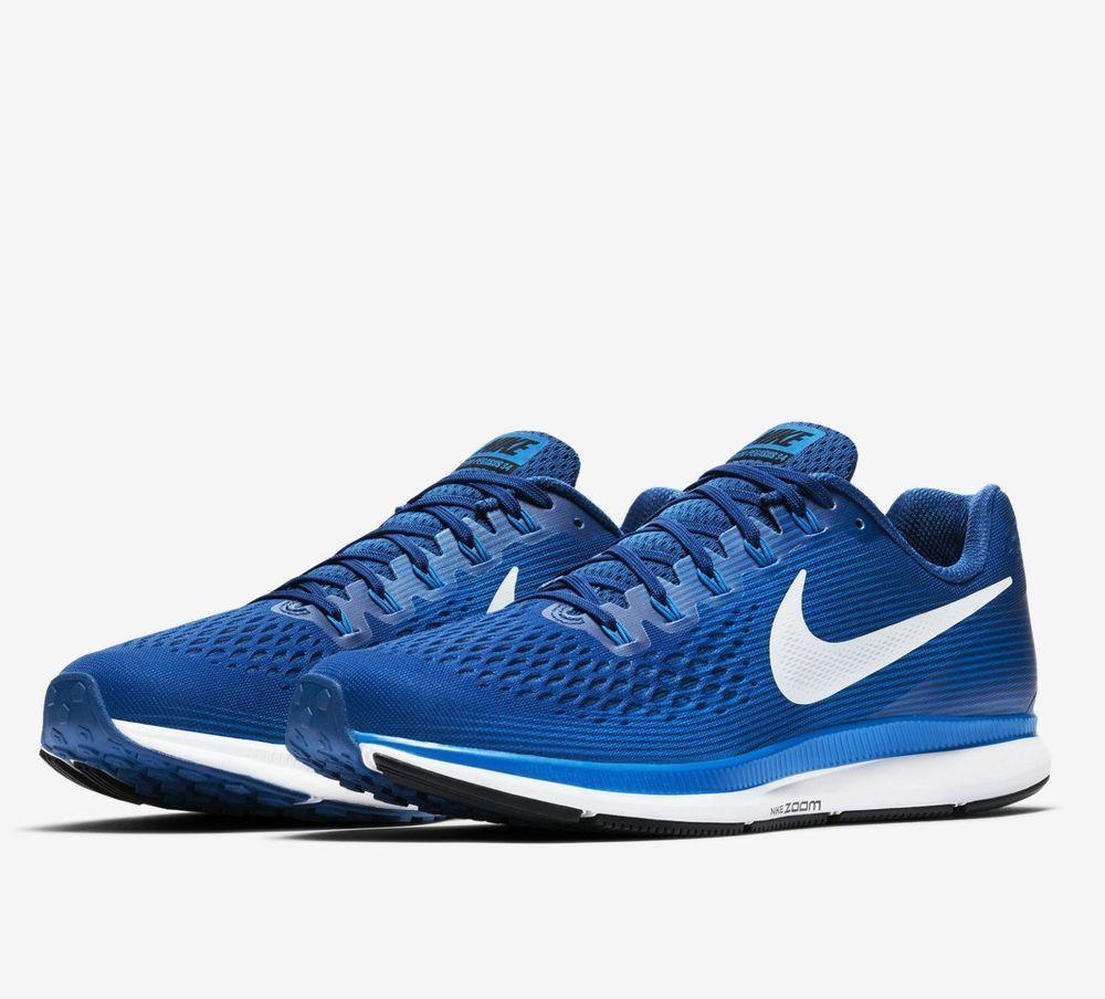 san francisco bf6e9 a726f Nike Air Zoom Pegasus 34 Mens Running Shoes 15 Gym Blue Sail ...
