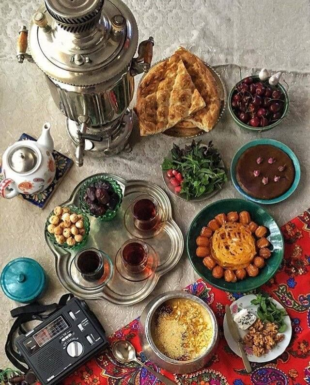 Example Of A Traditional Iftar Meal In Iran With Images
