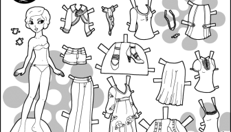 Marisole Monday Paper Dolls To Color- 3 Modern Sets