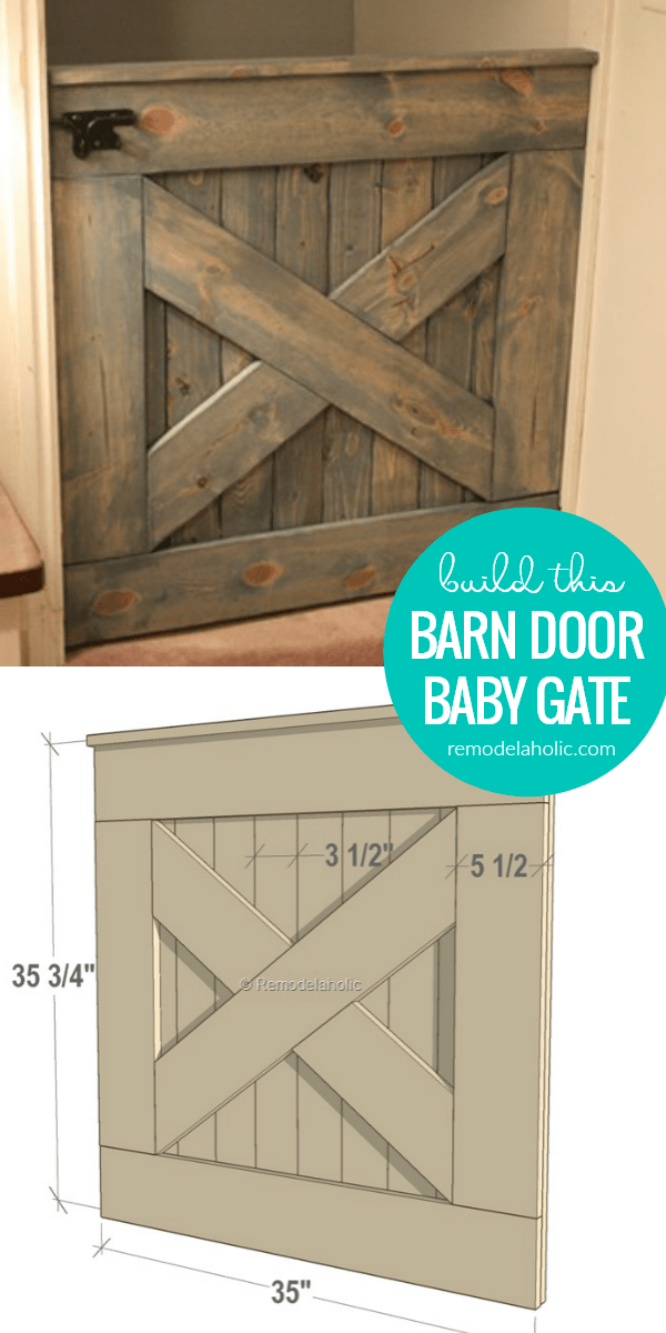 How To Build A Diy Wooden Barn Door Baby Gate Indoor Pet Gate With Matching Dutch Split Door Remodelaholic In