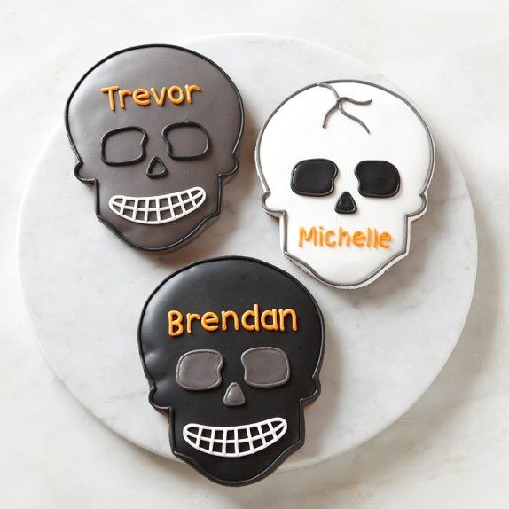 Giant Personalized Halloween Skull Cookies from Williams ...