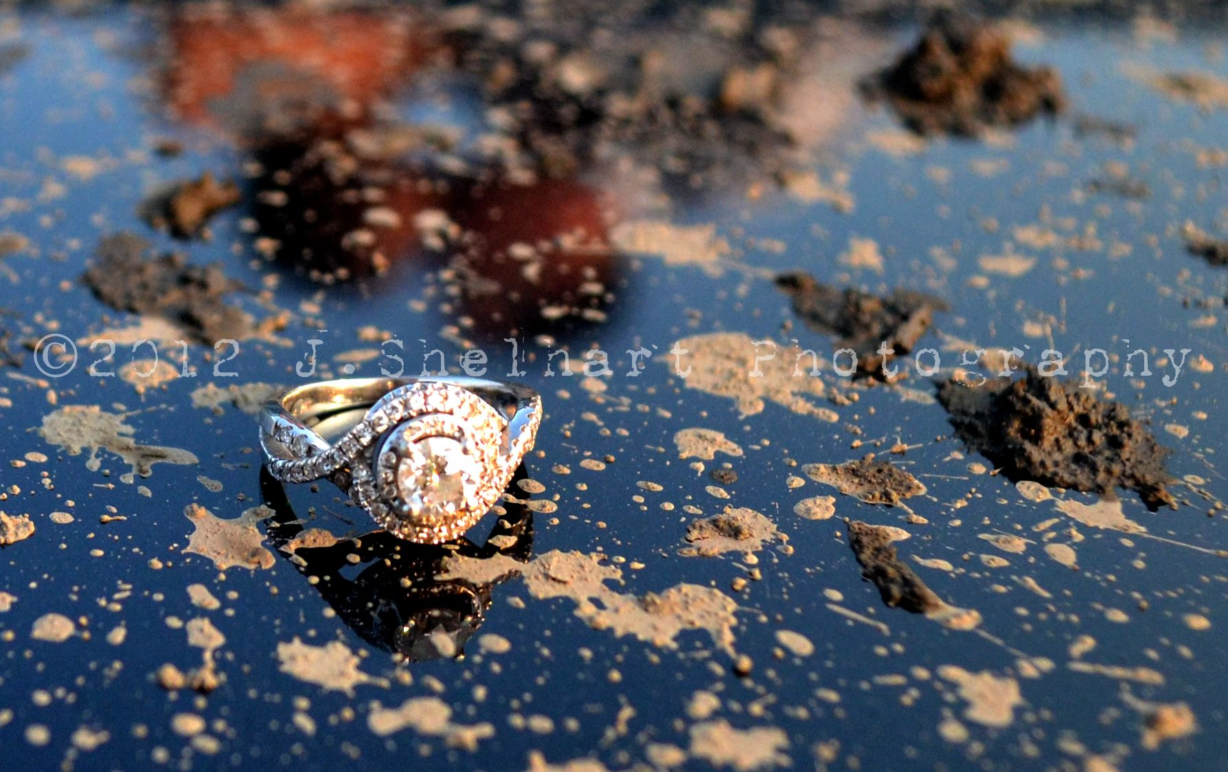 mudding wedding rings jeep engagement ring offroad mudding reflection