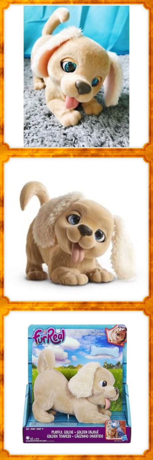 Furreal Friends 38288 New Furreal Pets Playful Goldie Puppy Interactive Toy Dog Sounds Blinks Barks Buy It Now Only 16 7 Fur Real Friends Dog Sounds Pets