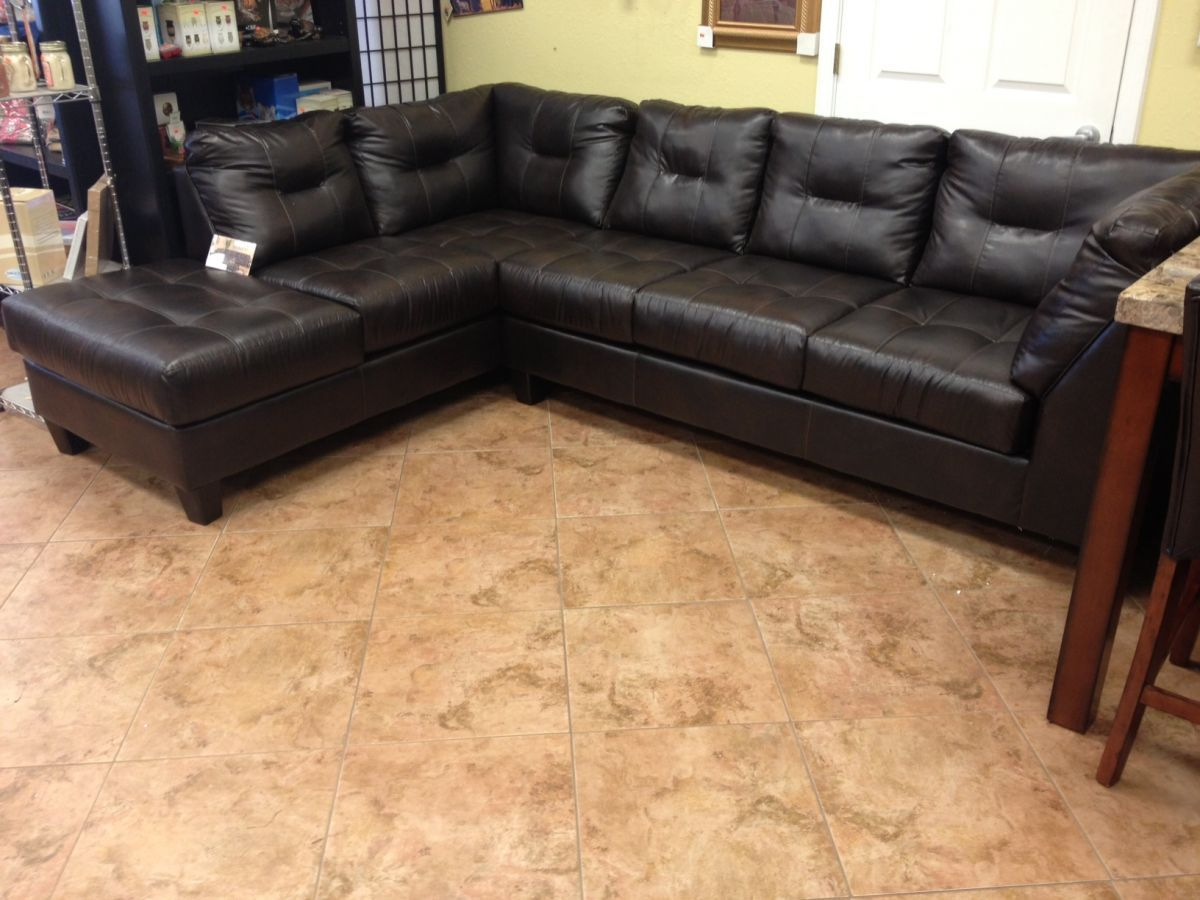 New Serta Upholstered L Shaped Sectional Comes In Black Or Brown
