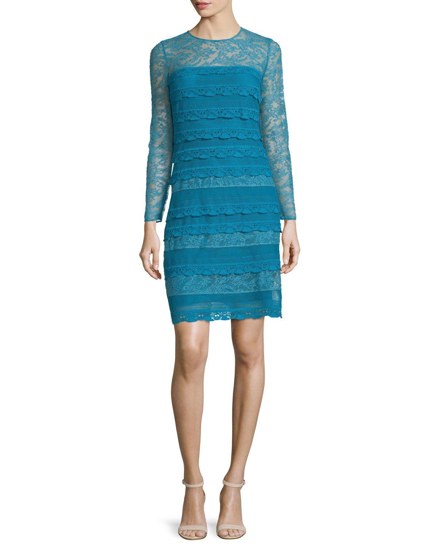 Long-Sleeve Lace Sheath Dress 4e0ac2bb0