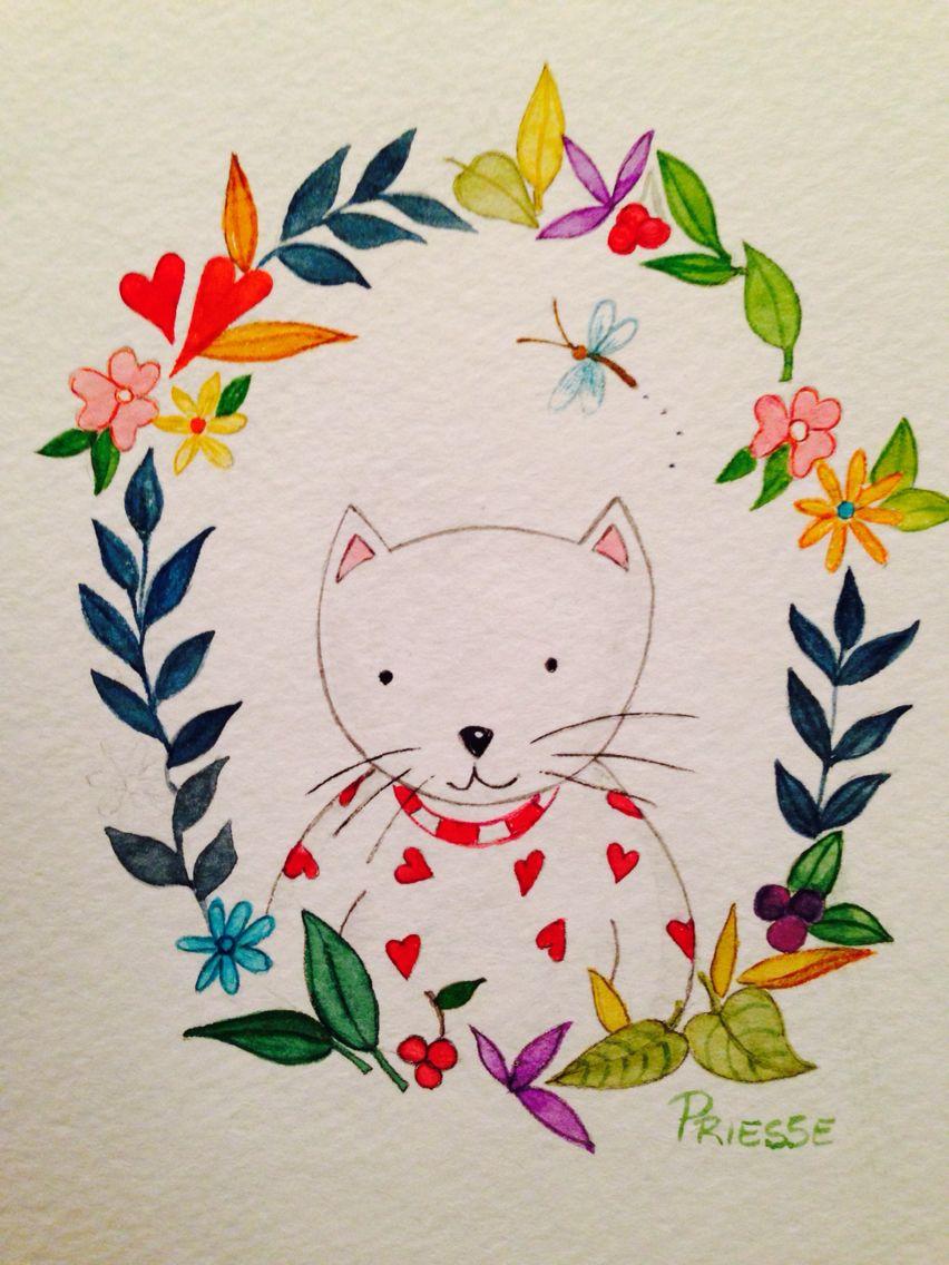 Watercolor by Erika Priesse