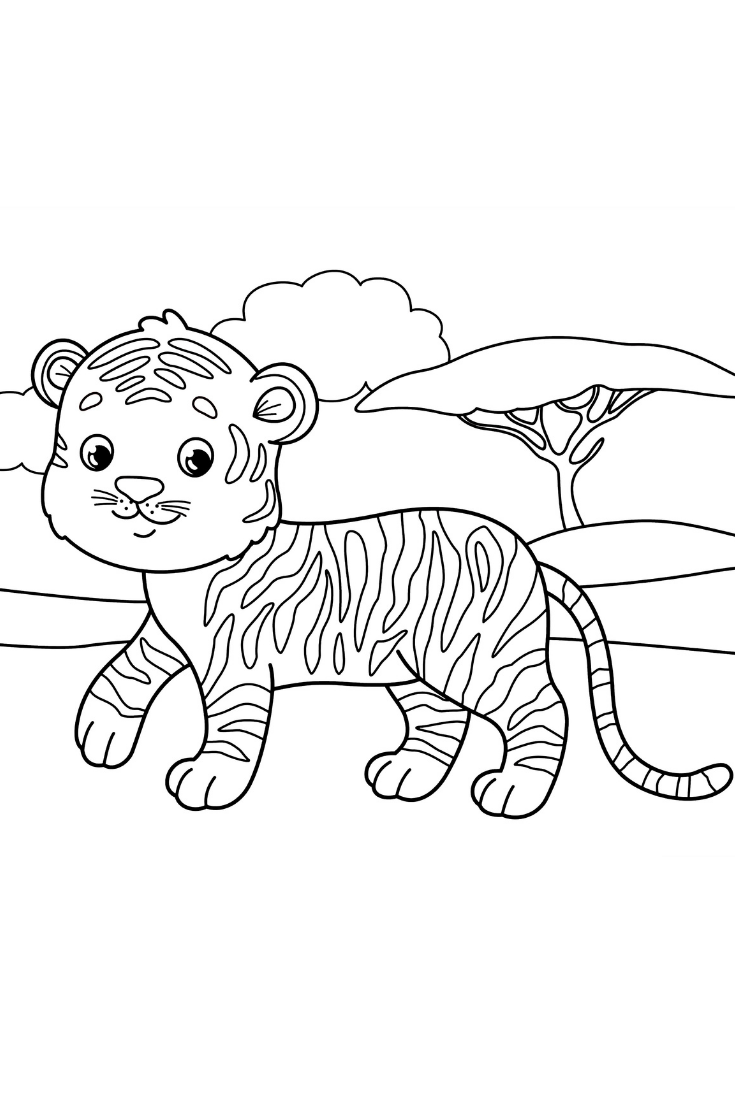 100 Animal Coloring Pages For Kids Coloring Pages For Kids Animal Coloring Pages Coloring Pages [ 1102 x 735 Pixel ]