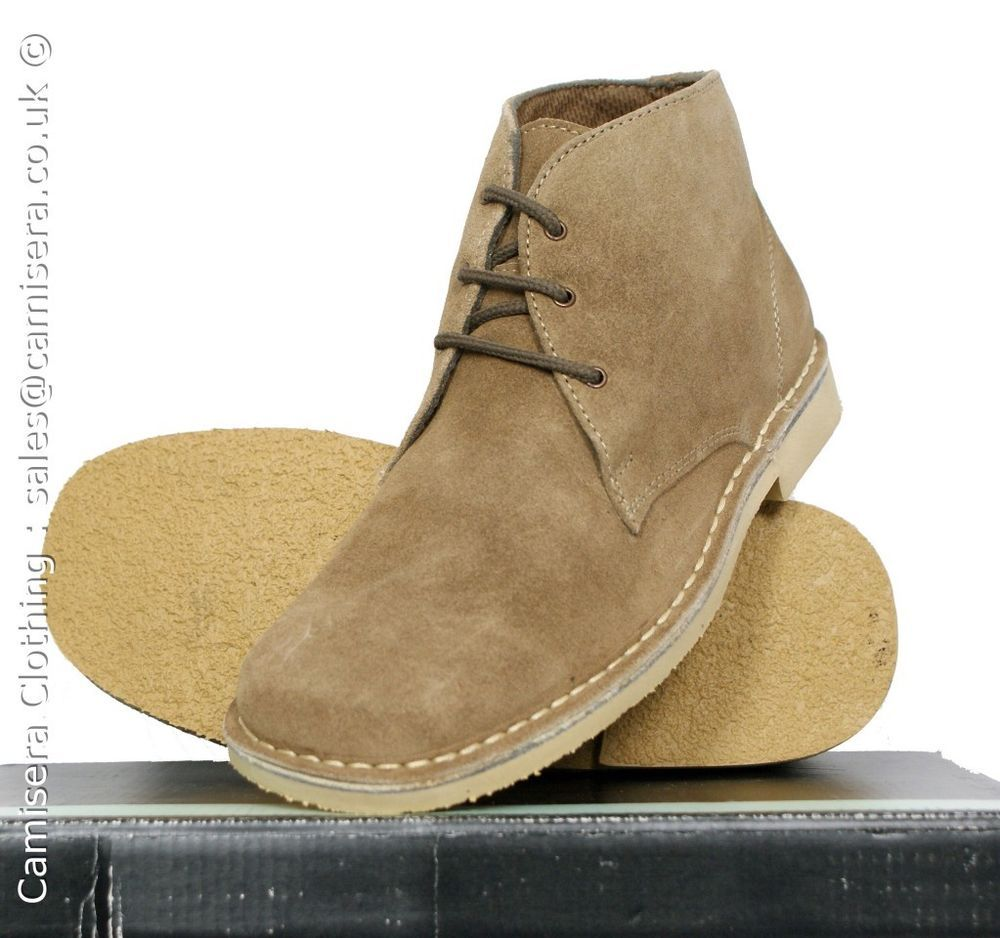 Roamers 3 eyelet Real Suede Leather Mens Desert Boots Sand 6 7 8 9 10 11 12 13 in Clothes, Shoes & Accessories, Men's Shoes, Boots | eBay!