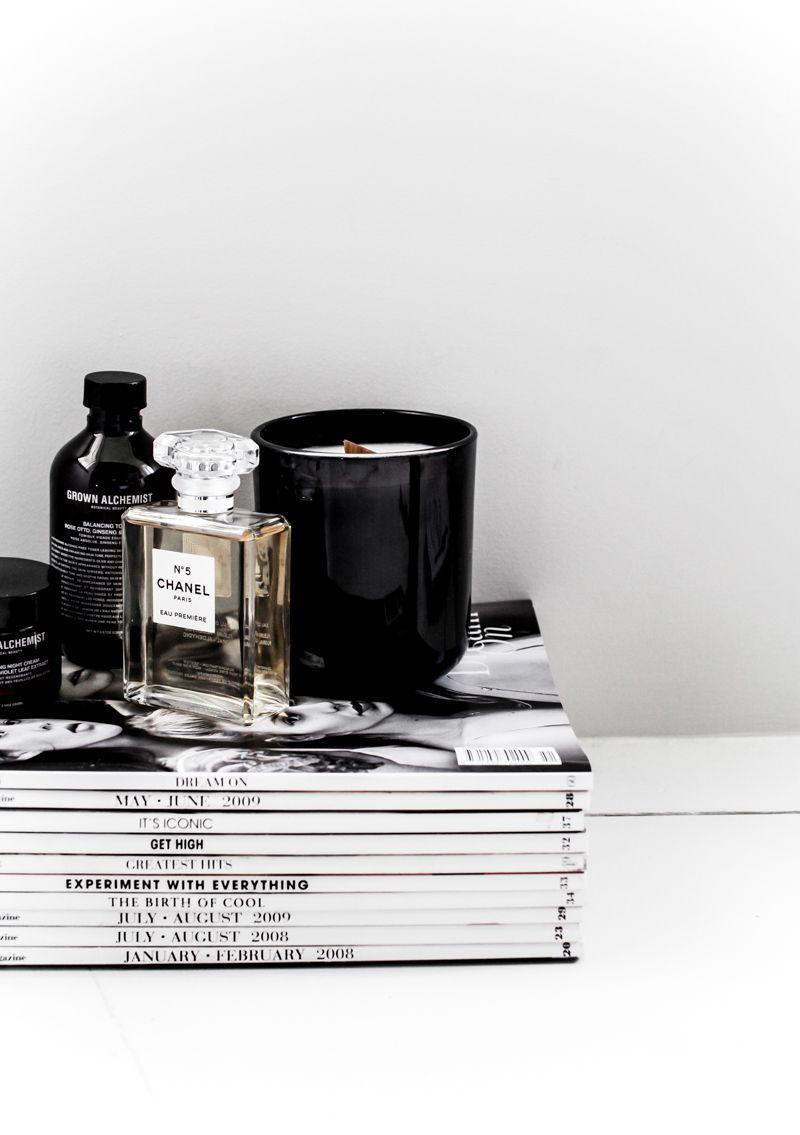 modern legacy chanel no 5 perfume noir glass candle black grown