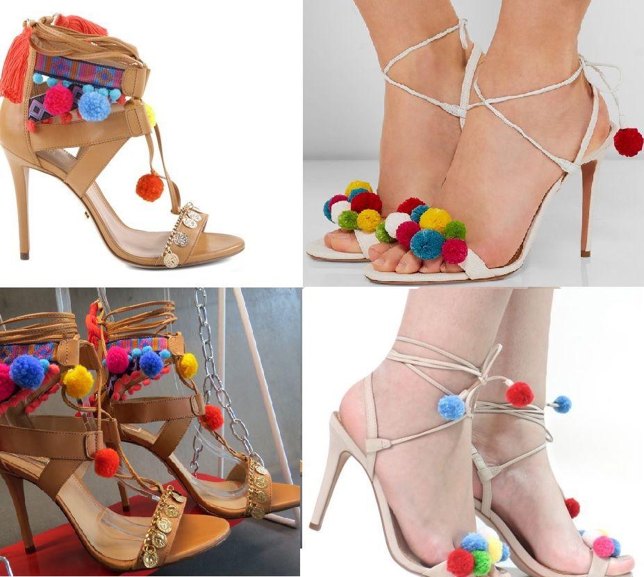 Super tendência do verão, as sandálias de pompom, prometem bombar e arrasar. Lindas e super coloridas, combinam com tudo.