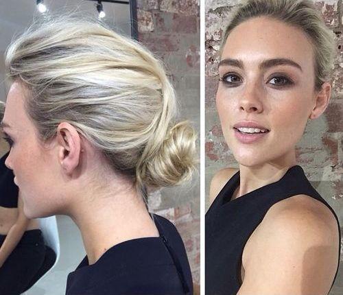 Low Messy Bun For Thin Hair Medium Length Hair Styles Medium Hair Styles Hairstyles For Thin Hair