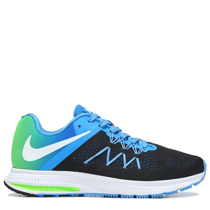 Nike Men Nike Zoom Winflo 3 Running Shoes BlackWhiteBlue