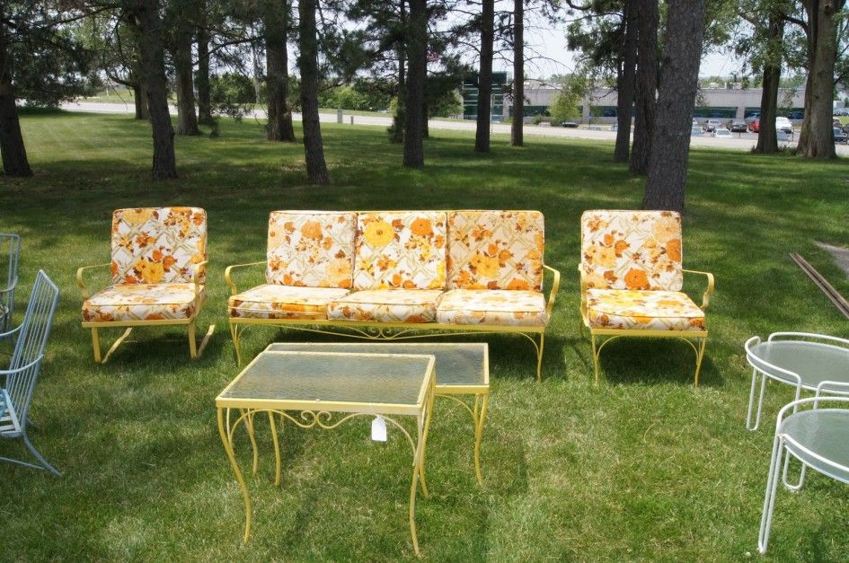 Simple Cute Vintage Metal Patio Chairs And Old Fashioned