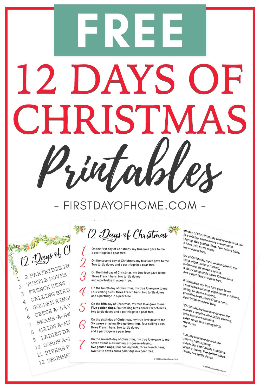 How to Celebrate the 12 Days of Christmas [Free Lyrics