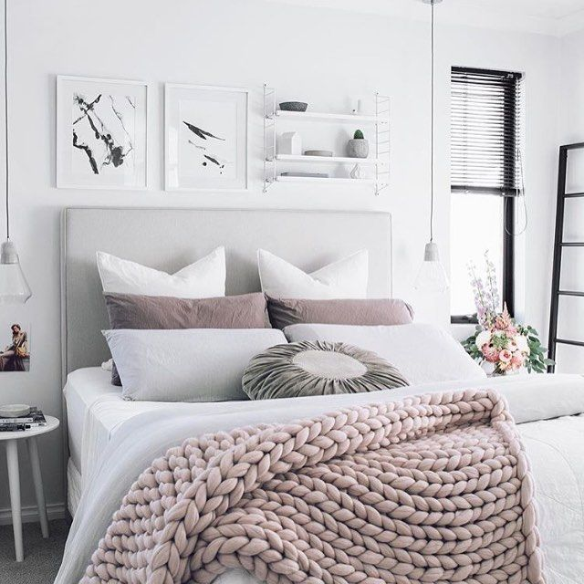 Curating The Details To Create A Cozy Yet Romantic Bedroom I Cant Escape Hold Shades Of Grey And Blush Has On Me