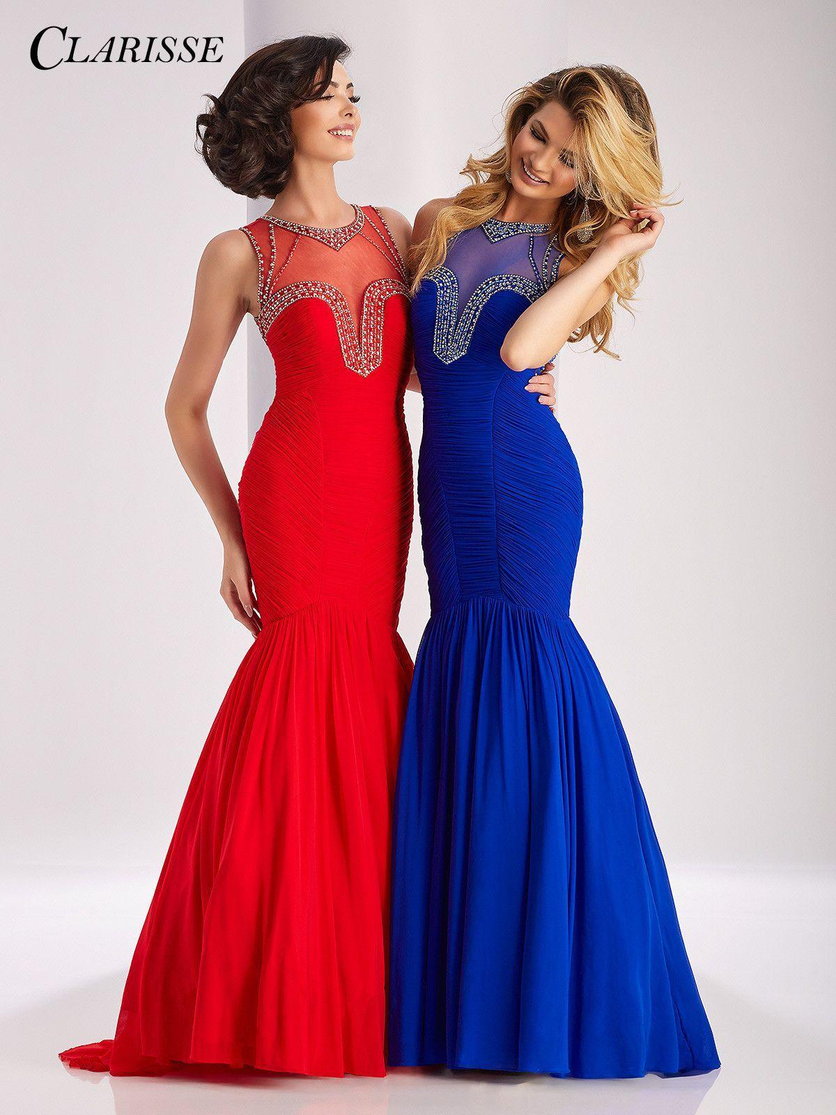 Clarisse prom royal high neckline prom dress pinterest prom
