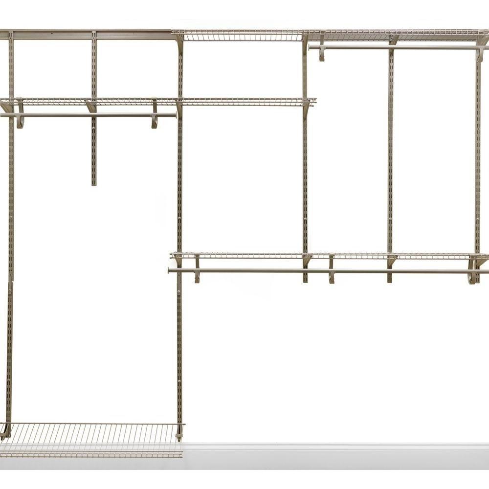Closetmaid Shelftrack 13 In D X 72 In W X 48 In H Steel Closet System Organizer Kit 2873 Wire Closet Systems Closet Organizing Systems Closet Organizer Kits